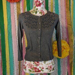 Ann Taylor LOFT Beaded Cardigan - Size S